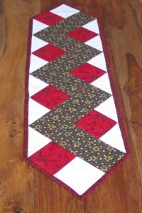 This mat measures 13 x 47 inches (33 x 120 cm) and has polyester batting.