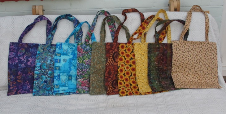 These pocket bags are 14 x 12 inches (36 x 30 cm). £15..00 each.